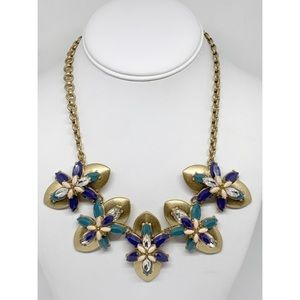 J. Crew Blue Faceted Cluster Necklace NWT